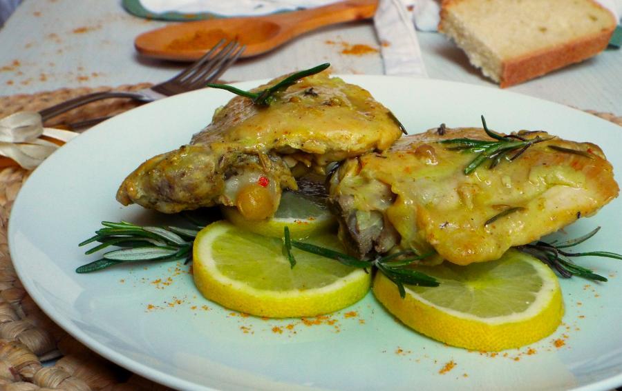 sovra cosce di pollo al forno ricetta